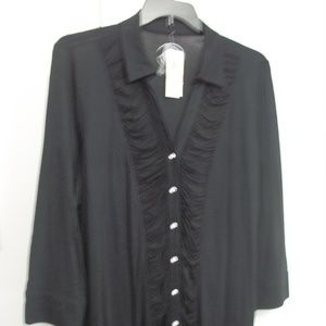 INTERNATIONAL CONCEPTS PLUS SIZE RUCHED TOP